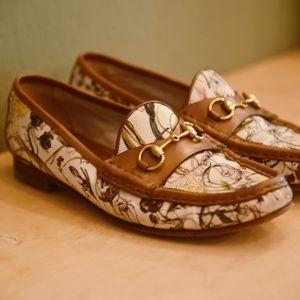 Botanical Print Floral Gucci Loafers